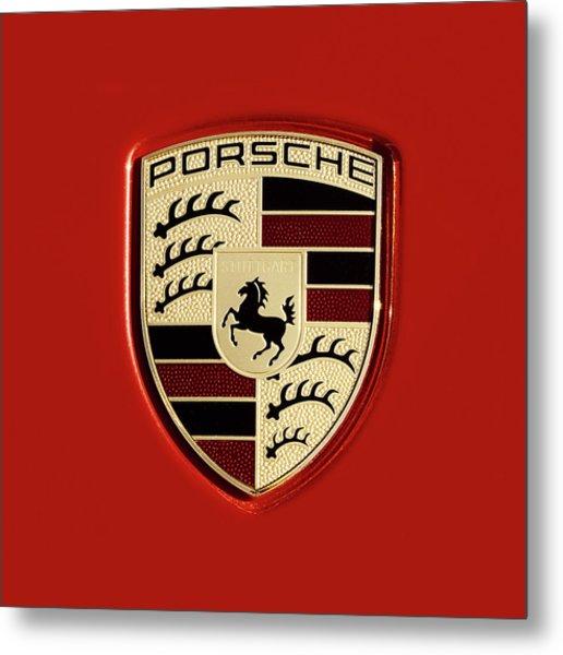 Porsche Power Red 111216 Metal Print