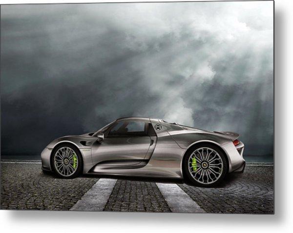 Porsche Spyder V2 Metal Print