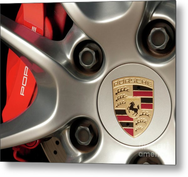 Porsche Wheel Detail #1 Metal Print