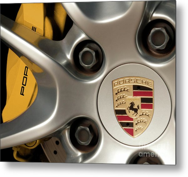 Porsche Wheel Detail #2 Metal Print