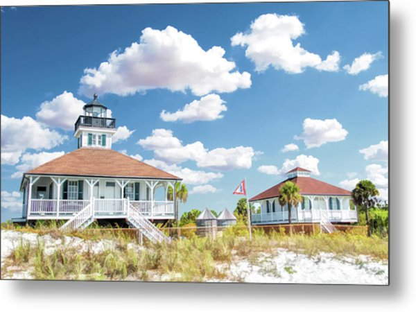Metal Print featuring the painting Port Boca Grande Lighthouse by Christopher Arndt