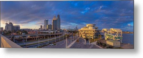 Port City Skyline Panorama Metal Print