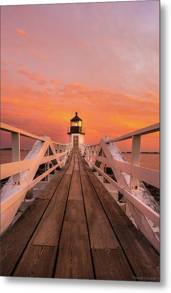 Metal Print featuring the photograph Port Clyde Maine - Marshall Point by Expressive Landscapes Fine Art Photography by Thom