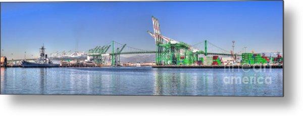 Port Of Los Angeles - Panoramic Metal Print