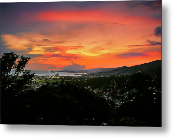 Port Of Spain Sunset Metal Print