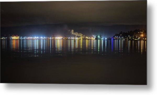 Port Of Tacoma Lights Metal Print