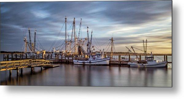 Port Royal Shrimp Boats Metal Print