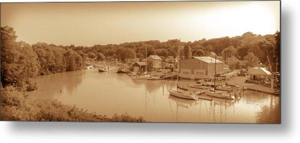 Port Stanley Waterway Metal Print