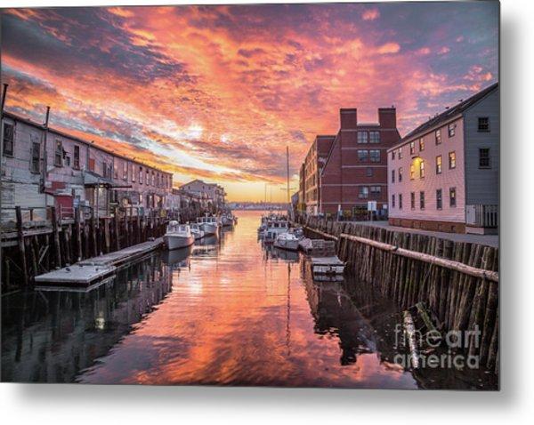 Portland Harbor Sunrise Metal Print
