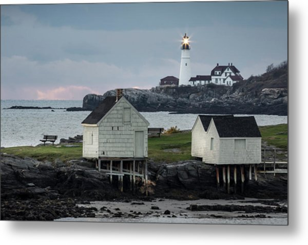 Portland Head Light From Willard Beach Metal Print