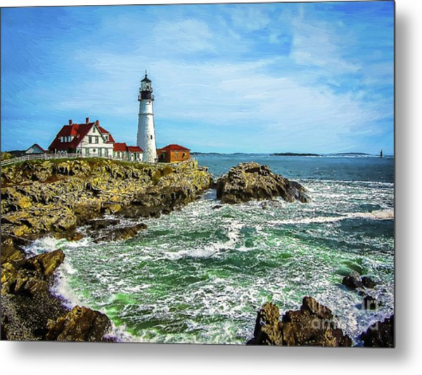 Portland Head Light - Oldest Lighthouse In Maine Metal Print