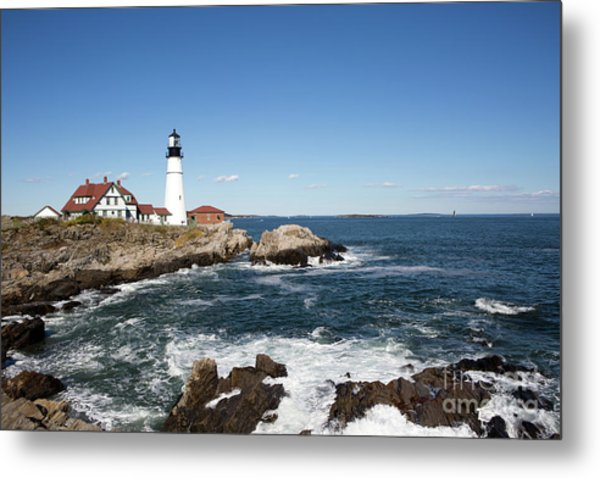 Portland Head Lighthouse Maine Metal Print