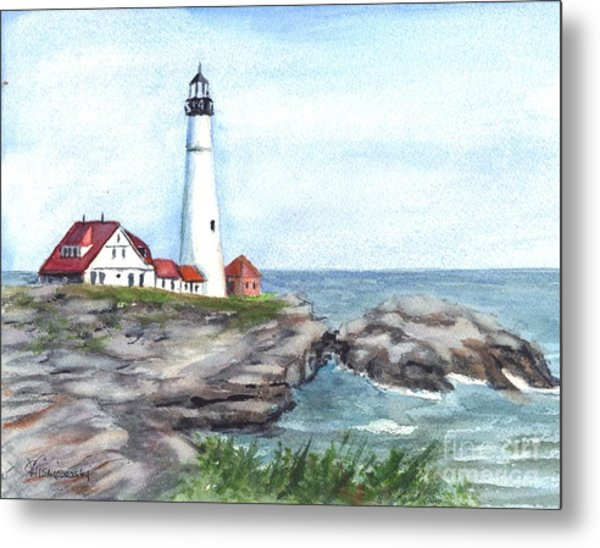 Portland Head Lighthouse Maine Usa Metal Print