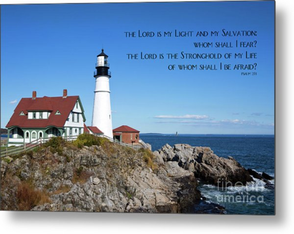 Metal Print featuring the photograph Portland Head Lighthouse by Steven Frame