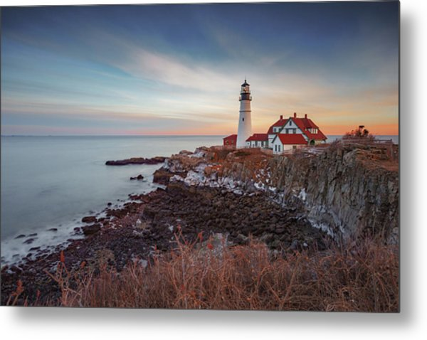 Metal Print featuring the photograph Portland Headlight by David Hufstader