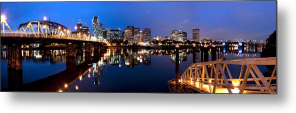Portland Oregon Skyline Metal Print