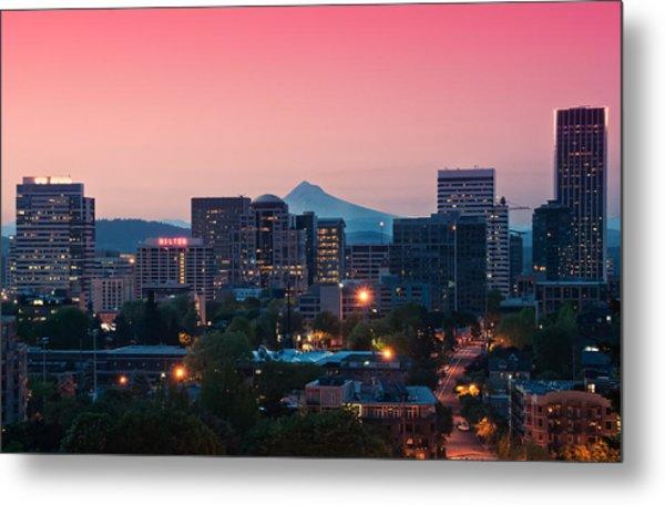 Portland Sunrise Metal Print