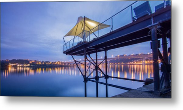 Porto Night Out Metal Print by Bruno Rosa