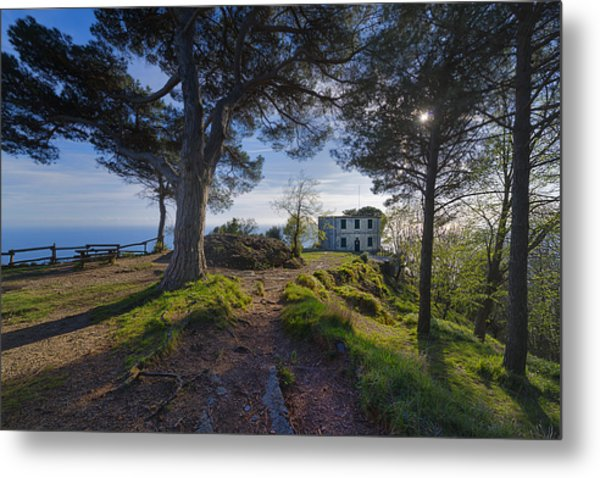 The House Of The Rising Sun In Portofino Metal Print