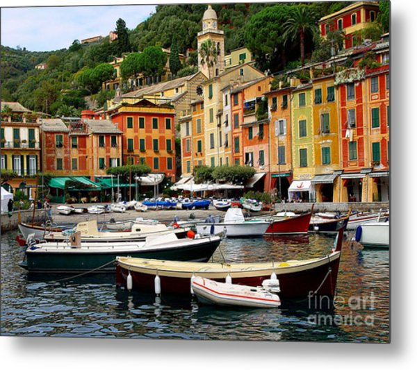 Portofino Italy Metal Print by Nancy Bradley