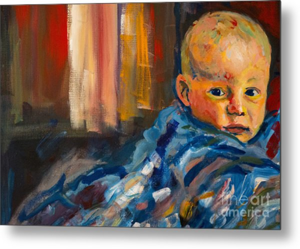 Metal Print featuring the painting Portrait For A Mother by Angelique Bowman