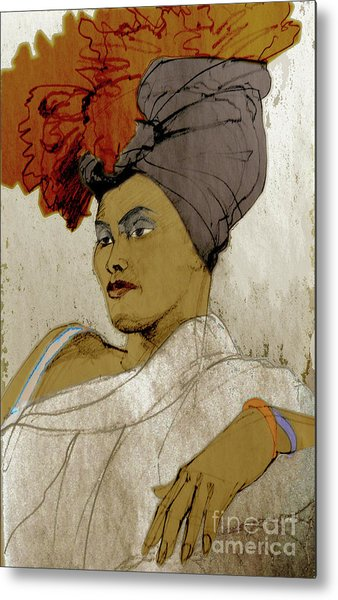 Portrait Of A Caribbean Beauty Metal Print