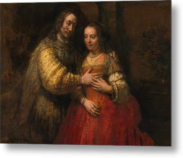 Portrait Of A Couple As Figures From The Old Testament Metal Print