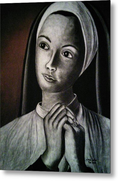 Portrait Of A Nun Metal Print