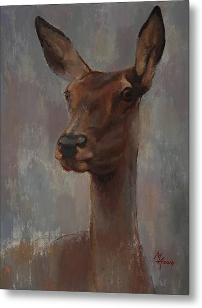 Portrait Of A Young Doe Metal Print