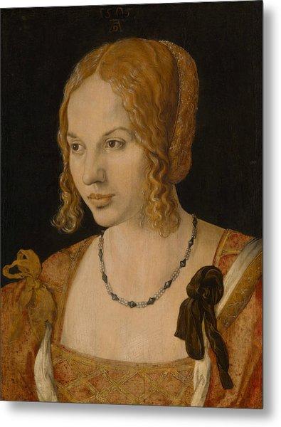 Portrait Of A Young Venetian Woman Metal Print