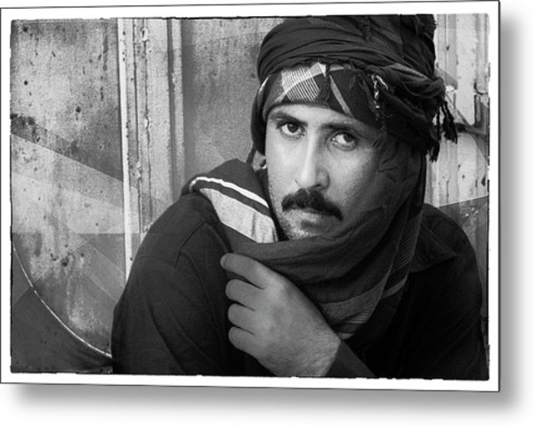 Portrait Of An Arab Man Metal Print