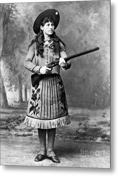 Portrait Of Annie Oakley Metal Print