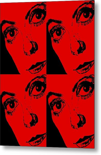 Portrait Of Catherine Pop Art Design Metal Print