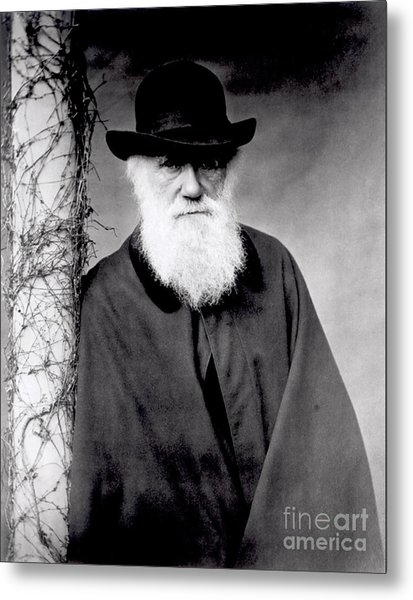 Portrait Of Charles Darwin Metal Print