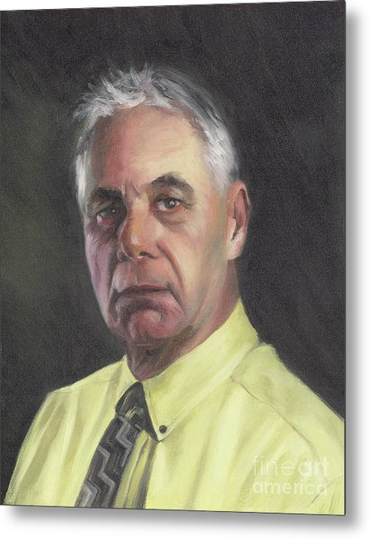 Portrait Of Chris Metal Print by Terri  Meyer