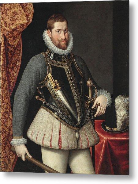 Portrait Of Emperor Rudolf II Metal Print