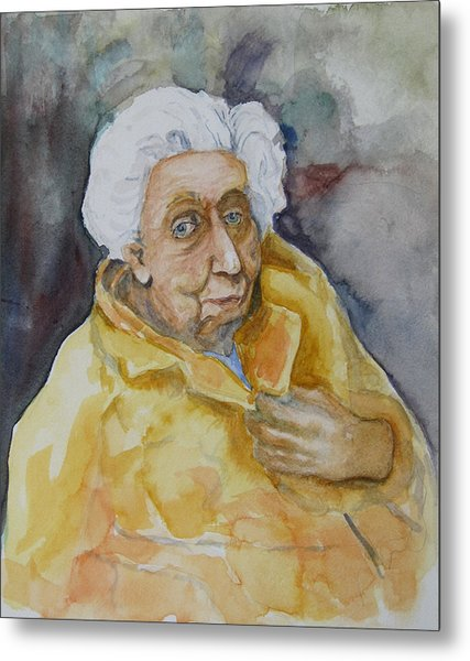Portrait Of Eudora Welty   Metal Print by Dan Earle
