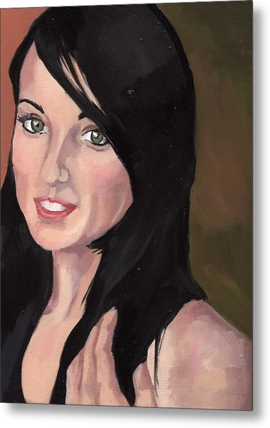 Portrait Of Jessa Metal Print