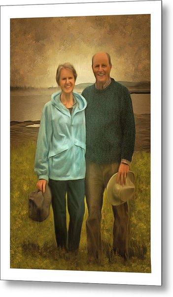 Portrait Of Joe And Denise Metal Print