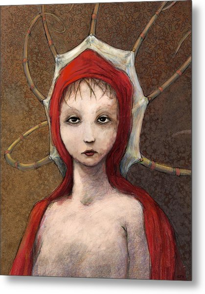 Portrait Of Octavia Metal Print by Ethan Harris