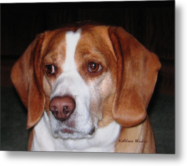 Portrait Of Rusty Metal Print