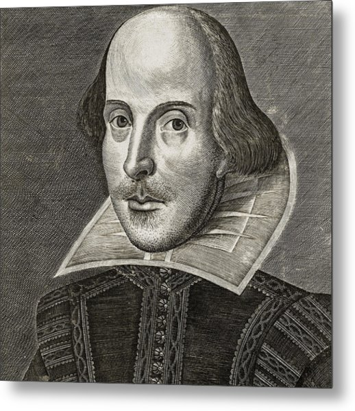 Portrait Of William Shakespeare Metal Print