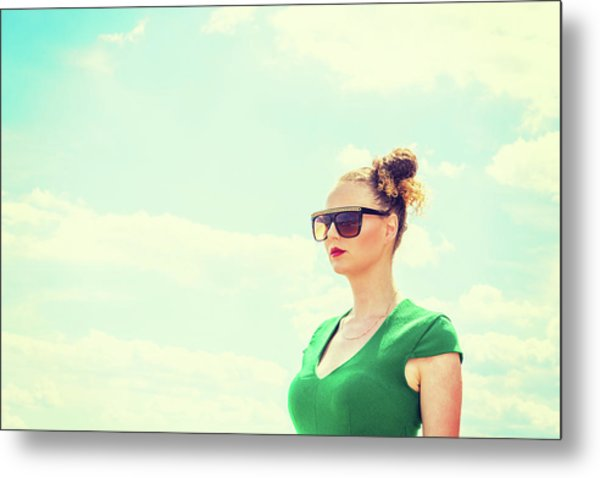 Portrait Of Young Woman Metal Print