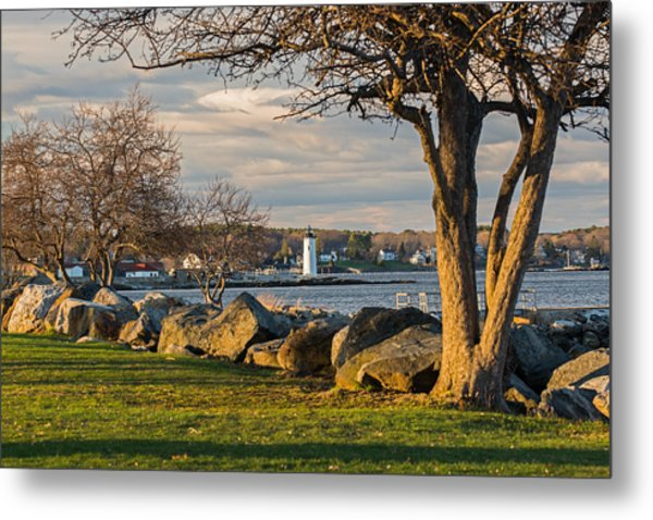 Portsmouth Harbor Light At New Castle Commons Metal Print