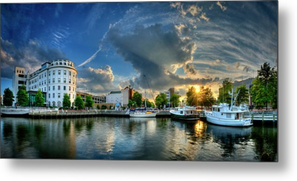 Portsmouth Sunset Metal Print by Williams-Cairns Photography LLC