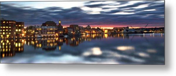 Portsmouth Waterfront Panorama Metal Print