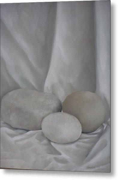 Posing Pebbles Metal Print