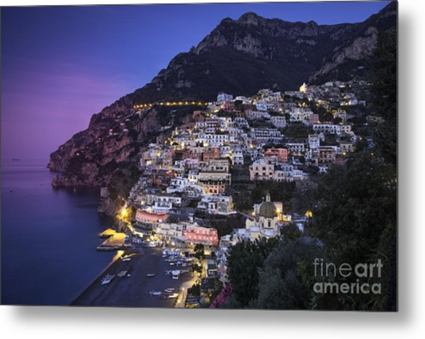 Positano Twilight Metal Print