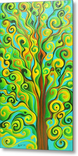 Positronic Spirit Tree Metal Print