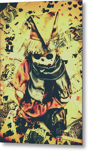 Possessed Vintage Horror Doll  Metal Print